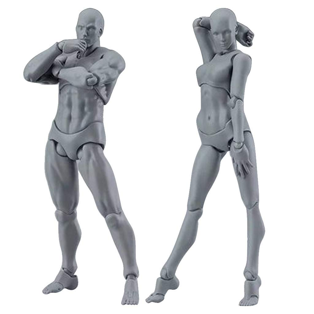 Amazon com gotian highly realistic sketch drawing figures action figure model human mannequin man woman kits for artists q arts crafts sewing