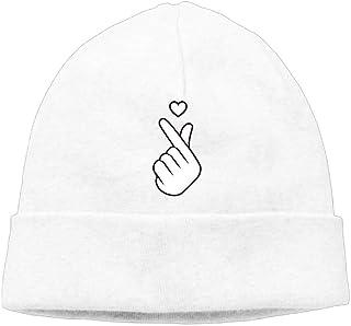 CHKWYN Fish Cartoon Kiss My Bass Winter Warm Knit Hats Skull Caps Soft Cuff Beanie Hat Unisex