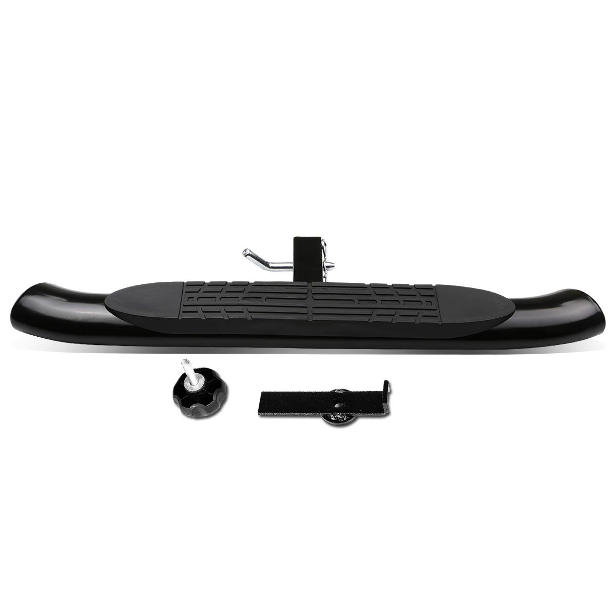 DNA MOTORING HITST-2-4O-111-BK-T1 Class III 4'' Oval Hitch Step by DNA MOTORING