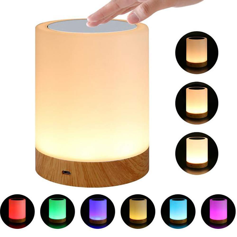 GCCLCF Dimmerabile LED coloreato Creativo Grana Luce Lampada da Notte Lampada Comodino Lampada da Cucina Lampada
