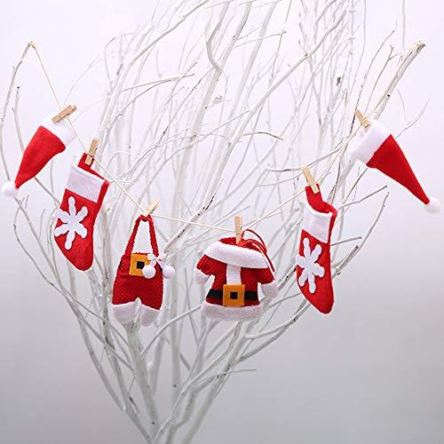 Christmas DIY Flag Christmas Pull flag Christmas Fireplace Decoration, Christmas Tree Decoration, 6Pcs/Set by TLT Retail (Image #4)