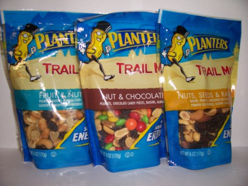 Kraft Planters (Planters Trail Mix-Ultimate Adventure Variety Gift Pack, Pack of 3 Differant 6-ounce)