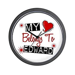 CafePress - My Heart Belongs To Edward Wall Clock - Unique Decorative 10 Wall Clock