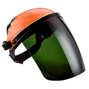 Xhuan Máscara de Seguridad Ajustable para Visera antirreflectante con Infrarrojos para soldar, Casco y protección Ocular, Naranja(Naranja ): Amazon.es: ...