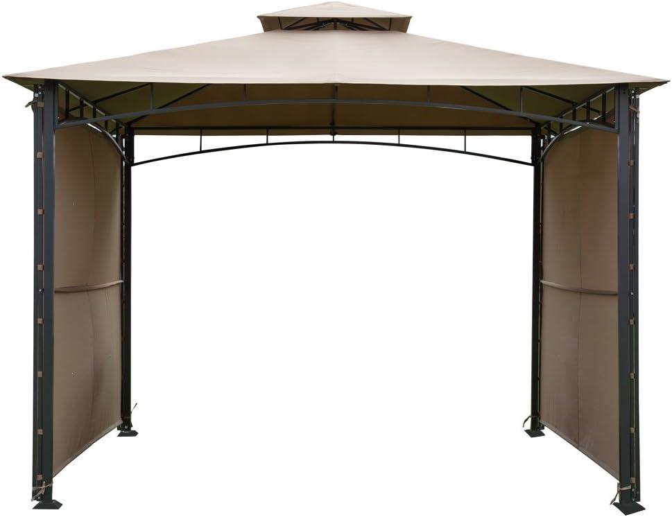 Abba Patio 10 x 10 ft exterior Patio Refugio de acero Art. Cenador ...