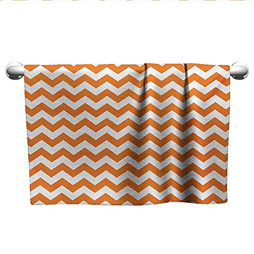 xixiBO Towel W10 x L10 Chevron,Halloween Pumpkin Color Chevron Traditional Holidays Autumn Season Celebrate,Orange White The Longest, Softest Towel]()