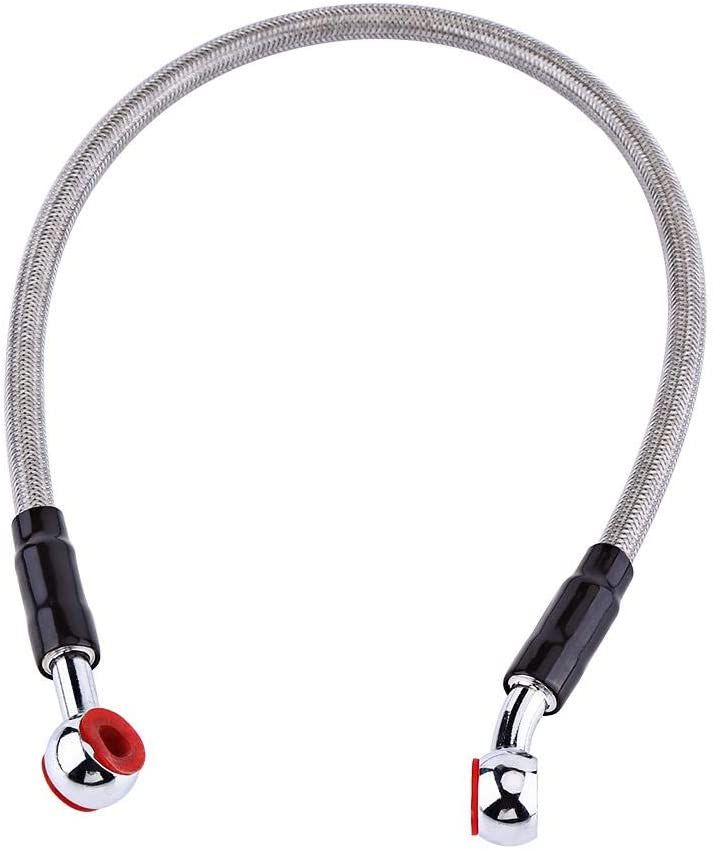 Braided Oil Brake Line Banjo Fitting Stainless Steel End 90CM-Red Suitable for Most of Motorcycle Brake Oil Hose Line