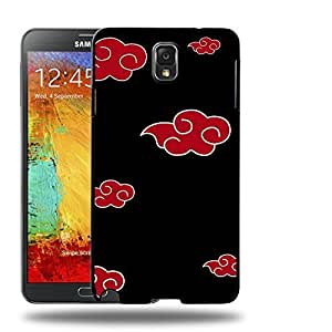 Case88 Designs Naruto Akatsuki Emblem Protective Snap-on Hard Back Case Cover for Samsung Galaxy Note 3
