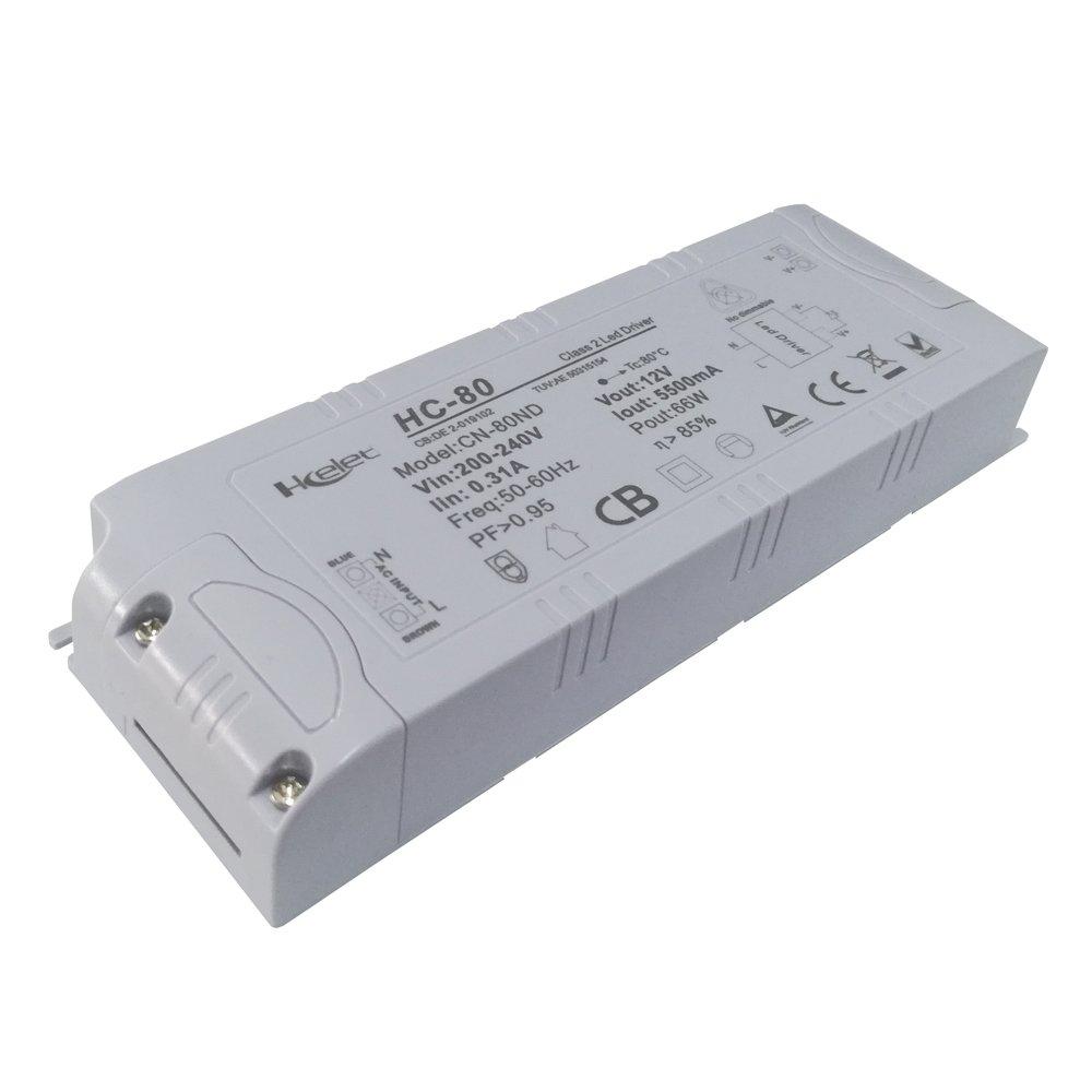 Hcelet costante tensione 12V 66W LED striplight GU5.3G4G9alimentatore CE RoHS pF > 0.95