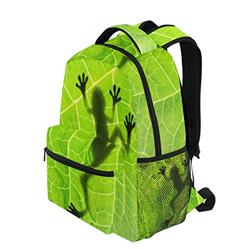 92da518cec06 TropicalLife Amazon Rainforests Green Tree Frog Backpacks School Bookbag  Shoulder Backpack Hiking Travel Daypack Casual Bags