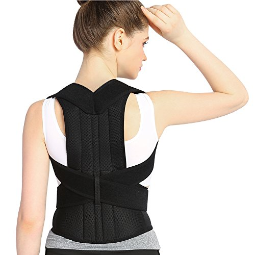 Posture Corrector Back Brace Support Belts for Upper Back Pain Relief, Adjustable Size with Waist Support Wide Straps Comfortable for Men Women