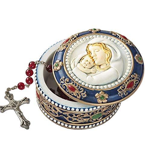 Fashiocraft Madonna and Child Rosary Box - 2.75