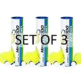 Yonex Mavis 2000 Nylon Badminton Shuttlecock (Yellow 3 Tubes)