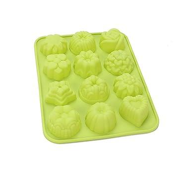 Askcut Moldes de repostería para hacer tartas, molde de silicona con mini plantas, molde