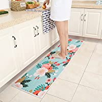 Non Slip Kitchen Accent Area Rug Runner Mr Fantasy Floral Hallway Bathroom Runner Absorbent Kitchen Mat Doormat