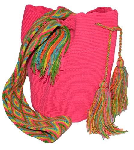 Bolso Colombiano Wayuu Autentico Algodón Salvaje Rosa: Amazon.es: Zapatos y complementos