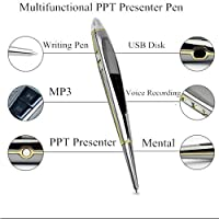 Ankaka K50707 8GB Laser PowerPoint Presenter Mini Voice Recorder with MP3 Function