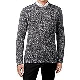Calvin Klein Mens Wool Marled Pullover Sweater Black XXL