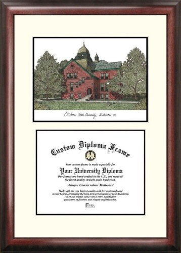 (Oklahoma State University Scholar Framed Lithograph with Diploma)
