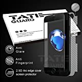 [Super smooth For APP game winner] Tateguard Iphone 7 Matte Tempered Glass Screen Protector [Super Anti-fingerprint][Edge-to-Edge Coverage] [Black Tooling]