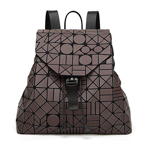 Stitching Handbag Diamond Backpack Geometric Women's Brown Fashion twqzanpg