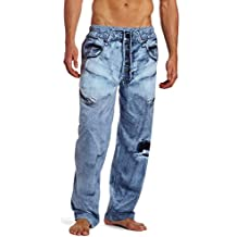 Joe Boxer Sleepwear Mens Jean Pajama Lounge Pants - Blue