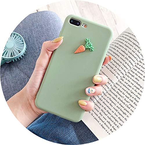 - Cute 3D Carrot Coque for iPhone 6 6S Plus Case Soft TPU Silicon Matte Plain Cover for iPhone Xr 8 7 Plus X Xs Max Fitted Case,Gn,for iPhone 6 6S