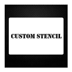 1 Line Custom Stencil 12x24 - Custom Las...