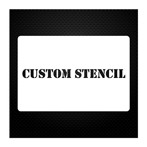 1 Line Custom Stencil 12x24 - Custom Laser Cut - Anything You Want - Strong Polyester Mil 10 - US Made (12X24) ()
