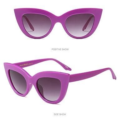HCFKJ Moda Vintage Cat Eye Gafas De Sol Con Montura Grande ...