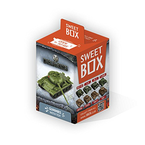 World of Tanks Sweet Box with big 3d Toys from Games and Gummi candys Mini 1:72 Scale, Assorted - White In The Fastest World Woman The
