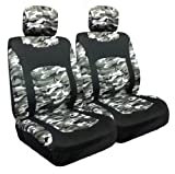 Allison Snow Camo Low Back Bucket Seat Covers, Pair in Gr...