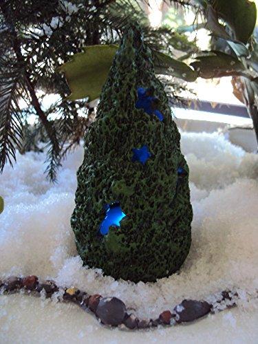 4 Inch Fairy Garden Mini Christmas Tree with LED Lights