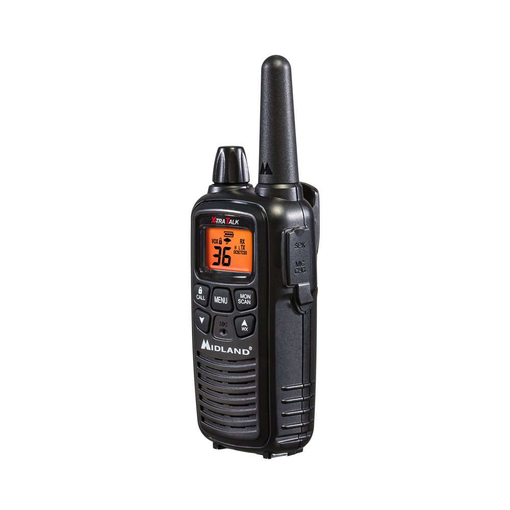 Midland - LXT600VP3, 36 Channel FRS Two-Way Radio - Up to 30 Mile Range Walkie Talkie, 121 Privacy Codes, NOAA Weather Scan + Alert (Pair Pack) (Black) by Midland (Image #5)