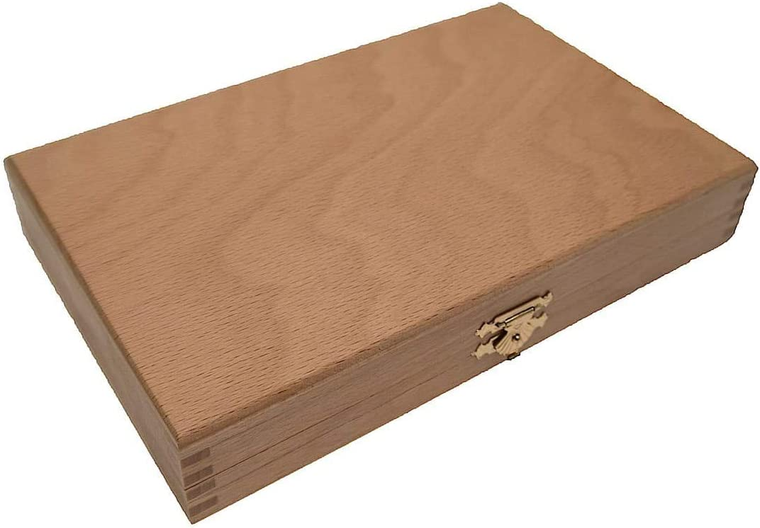 28,5 cm Reisespiel Kassette Holz ROMBOL Backgammon