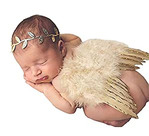 Love Sweety Baby Angel Feather Wings Photography Props with Headband