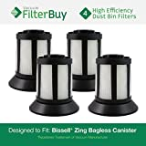 4 - Bissell Dirt Bin Filters. Designed by FilterBuy to replace part # 203-1532 (2031532). Fits Bissell Zing Bagless Canister Vacuum.