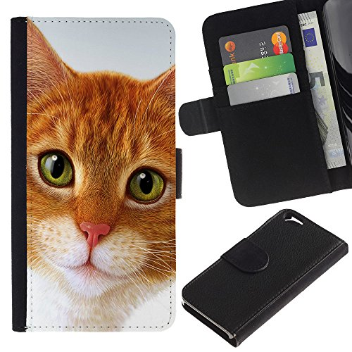 EuroCase - Apple Iphone 6 4.7 - Cymric cat American shorthair - Cuir PU Coverture Shell Armure Coque Coq Cas Etui Housse Case Cover