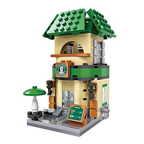 LOZ Building Block Coffee Shop Mini Handmade Kit,Construction Toy Birthday Gift Kid Adult(Coffee Shop)