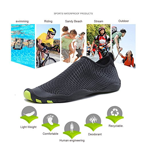 3e6a721319b3 CIOR Men and Women s Barefoot Quick-Dry Water Sports Aqua Shoes with 14  Drainage Holes for ...
