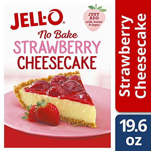 Jell-O No-Bake Strawberry Cheesecake Dessert Mix, 19.6 oz ()