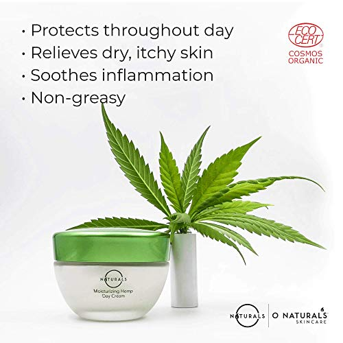 51D AsH4h%2BL - O Naturals Organic Moisturizing Hemp Oil Day Face & Neck Anti-Aging Cream. Relives Dry Itchy Cracked Skin. Prevent Signs of Aging Soothe Inflammation Collagen Boosting. Omega -3 Hyaluronic Acid. 1.7oz