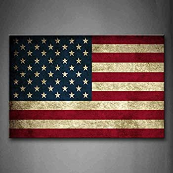 First Wall Art   American Flag In Red White And Blue Wall Art Painting  Pictures Print On Canvas Art The Picture For Home Modern Decoration