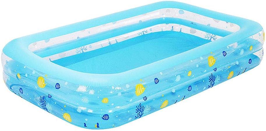HEROTIGH Piscinas Hinchables Familia A Gran Escala De Piscinas Rectangulares De Dos Anillos 262X175X51Cm Inflatable Pool: Amazon.es: Hogar