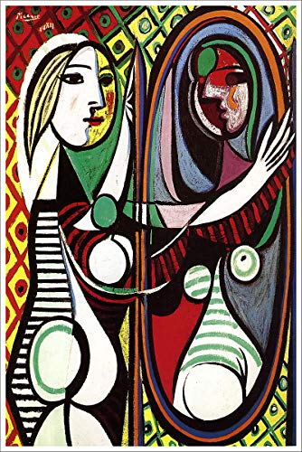 American Gift Services - Artist Pablo Picasso Poster Print of Painting Girl Before a Mirror - 11x17