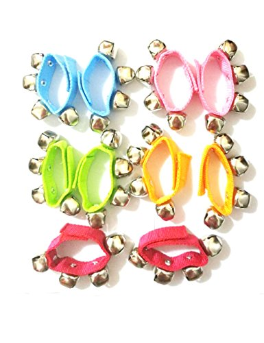 Multicolor Rhythm Band Wrist Ankle Jingle Bells Music Bracelet for Toddlers 10 pcs Percussion Orchestra Rattles Toy