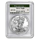 2017 (P) Silver American Eagle MS-70 PCGS (Philadelphia Mint) 1 OZ MS-70 PCGS
