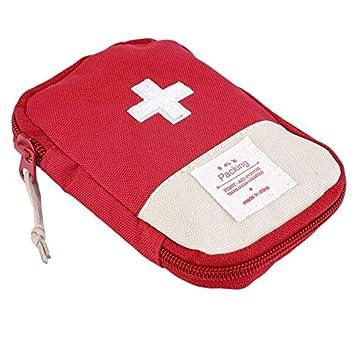 Newgrees Llamativo Kit portátil de Primeros Auxilios de la Cruz Símbolo Acampar al Aire Libre Inicio