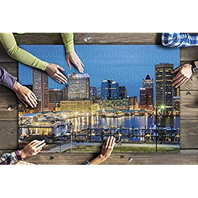 Baltimore, Maryland - Waterfront of Skyline from Federal Hill Baltimore 9020200 (Premium 1000 Piece Jigsaw Puzzle for Adults, 20x30, Made in USA!): Toys & Games