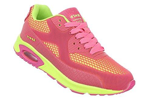 Damen Freizeitschuhe Schuhe Runner Sneakers Sportschuhe Schwarz Pink Grau 36 37 38 39 40 41 Pink